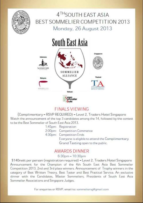 South East Asia Best Sommelier Competition 2013
